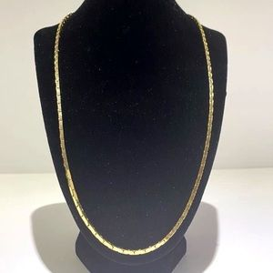 Made in Korea Mens Gold Toned Thick Chain Necklace